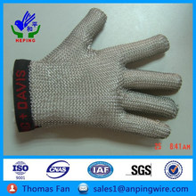 protection equipment anti cutting metal glove, meat cutting gloves