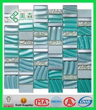 Wholesale brick glass mosaic tile Green