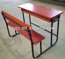 High Quality 3 Seater School Desk and Chair, 3-Seater School Furniture