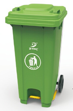 240L outdoor plastic dustbin,wheelie with pedal