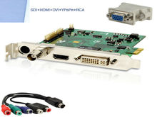 1080 pci HDMI Video Capture Express Card SDI DVI VGA Ypbpr Input