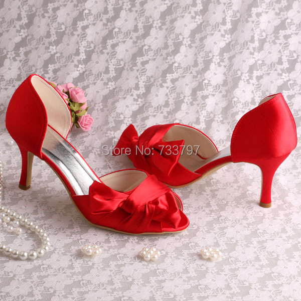 Customize Handmade Open Toe Ladies Pink Bridal Sandals Shoes with Big Bow