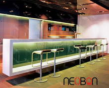 Manufacturer Acrylic Stone night club bar counter/Modern Artificial bar counter LED/home bar counter design