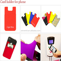 Hot sale 3m sticker phone card holder for cell phone, 2014 fashionable flexible cell phone holder