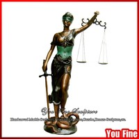 Life Size Bronze Lady Justice Statue