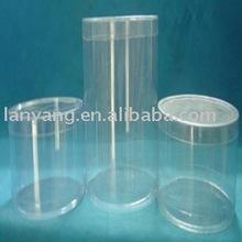 Clear Plastic Cylinder Boxes with Lid plastic box pvc box (FL247)