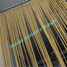 Honby Sparkly Gold Metal Beaded String Curtain