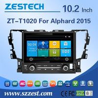 for Toyota Alphard 2015 multimedia navigation system 10.2'' double din car cd player car dvd music player A/V in/out