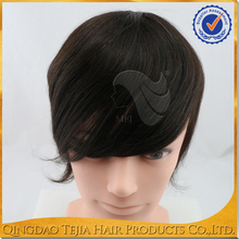 synthetic black hair natural looking men's toupee for men