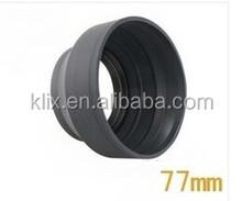 77mm 3 in 1 Lens Hood 3 in 1 Lens Hood 3 Stage Rubber Lens Hood