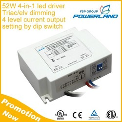 52W 1000mA 1100mA 1200mA 1300mA 4-in-1 Triac ELV Dimming Led Driver Supplier