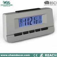 Analog car digital electronic calender clock with light , carriage am pm led digital clock