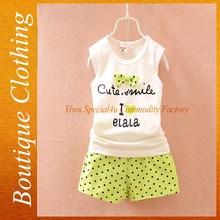 Barato ropa del bebé de dos piezas niños ropa del verano de la venta del bebé y ropa de los niños SFUBS-022