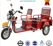 battery operated electric tricycle with cargo tank and front glass