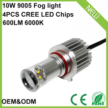Newest design and technology double color changing 3 models white yellow amber car 9005 led fog light 10w 4pcs CREEs led chip