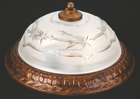 cheapest painted golden finish with glass diffuser ceiling lamp/ceiling flush mount from China