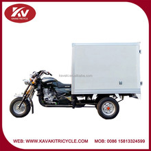 Closed cargo/carriage box 200cc air-cooled/water-cooled powerful china tricycle supplier