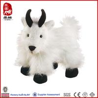 Plush long fur high quality customized promotion goat plush toy