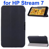 3 Folding Texture Karst Texture Flip Cover for HP Stream 7 with Stander