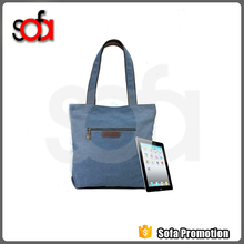 Manufacture supply classical style recreational canvas bag for lady