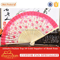 Customise chinese folding hand held fan for chinese gift
