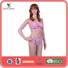 2015 Popular Romantic Comfortable Triangle Printed Halter Bikini