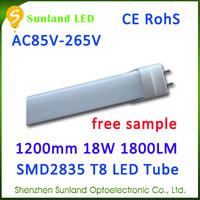 AC 85-265V 3000-7000K 96pcs 5050SMD 1200mm White t8 18w led tube light