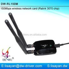 High power Ralink 3070 chipset usb wireless adapter