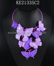 Europe and the United States show grandiose zhang metal stereo new butterfly necklace collar dress brand accessories