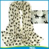 new design print horse cashmere scarf