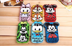 3D Cartoon mickey minnie donald daisy goofy chip cartoon character phone case back soft cover for iphone 4 4s 5 5s 6 6p samsung