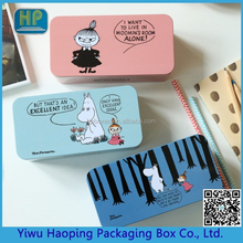 Interesting double box of moomin tinplate students desktop stationery storage boxes pencil gift tin case