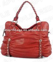 New fashion lady red chain handbags