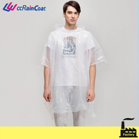 clear pe cheap rain poncho for men and women