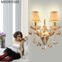Maria Theresa Crystal Wall Sconces Light Fixture with 2 lights Amber color MD8475 L2