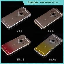 diamond crystal hard chrome heart case for iphone 6