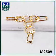 M9509 Popular wholesale alloy ring collected crystal stones ornament for sandals