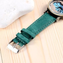 Elegant Car Design Quartz Watch Denim Fabric Strap Watch Unisex Fashion Casual Clock Hours Relojes Mens Womens Wrist Watches