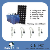 500W Solar Home Lighting System With Mobile Charger and DC output