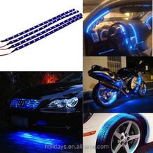 Waterproof 12V Blue 30CM/15 LED Car Motors Truck Flexible Strip Light