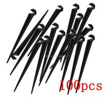 100 Pcs 11cm Black Convenient Durable Plastic Cable Hose Tie Nail Easy Install