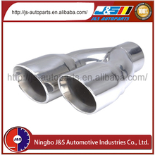 Stainless Steel Cone Twin Slant Cut Tail Pipe Trim Tip---Weld-on