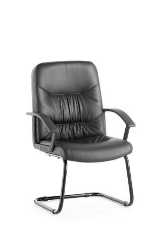 Wholesale High Quality Leather Office Chair Without Wheels HT204