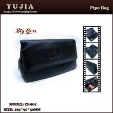 Guangzhou yujia genuine leather smoking pipe bag tobacco ZE-801
