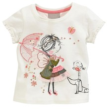 ICT 5686 little girl short sleeve T-shirt