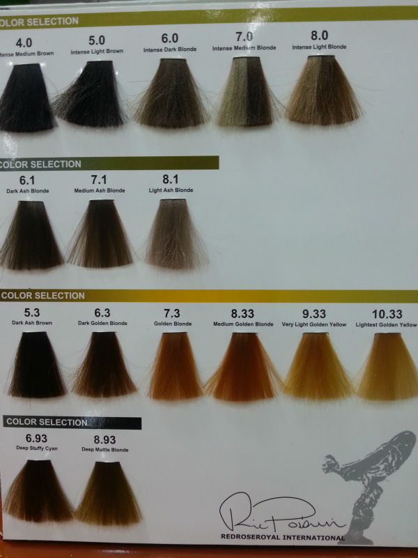 Xp100 Produo Of Xp200 Hair Color Chart Dagpress Com