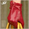 Colorido de lujo guantes de invierno, teléfono inteligente de pantalla táctil guantes, de gamuza de cuero guantes sin dedos