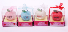 2015hot sale Best sell popular decoration rose ball candle gift set