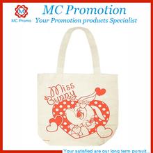 recycle plain cotton tote bag
