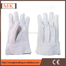 """11"""" leather safety gloves with full palm back with 3 liner"""